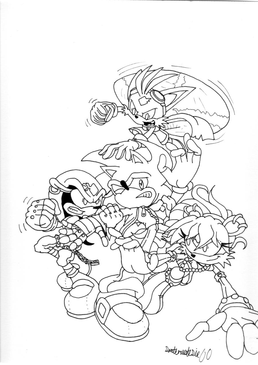 How To Draw Sonic Undergrownd Sonic Underground Coloring Pages