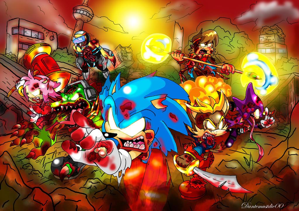 Sonic Zombies By Nextgrandcross On Deviantart