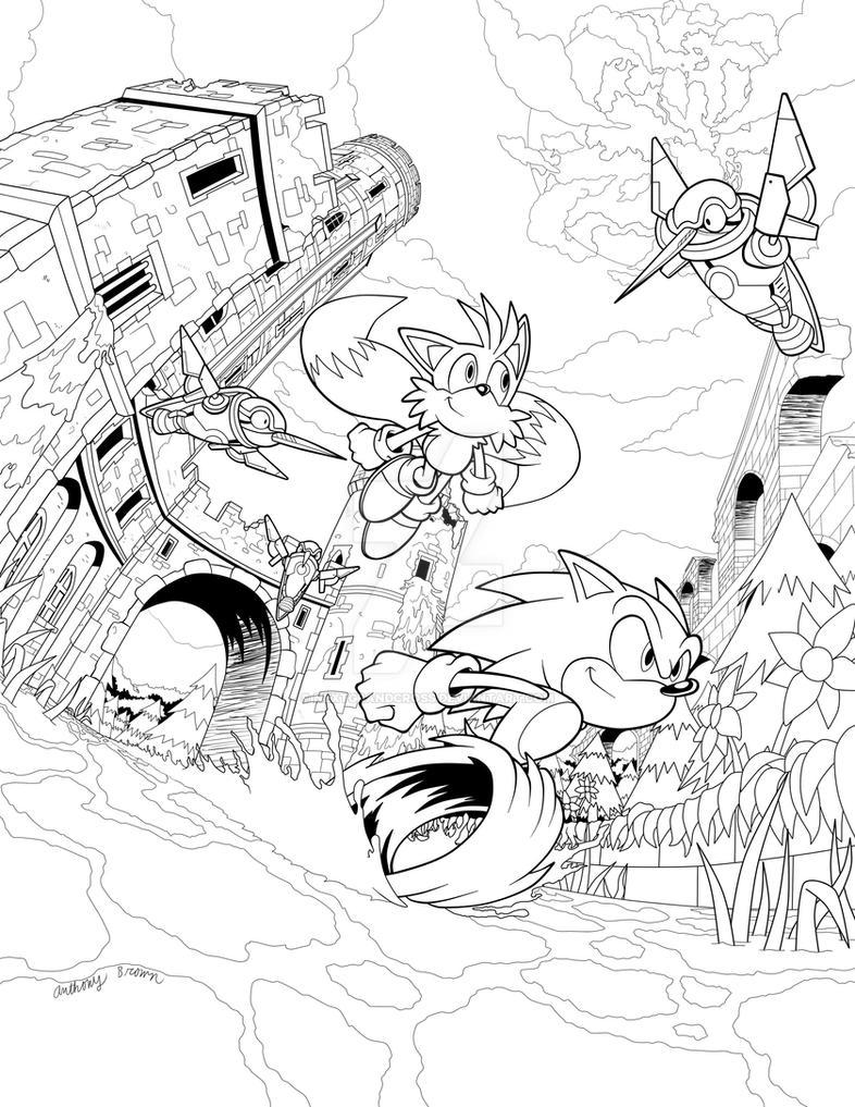 Sylvania Castle Zone - Line Art by NextGrandcross