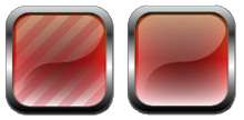 Crimson Red Buttons by justamiller24