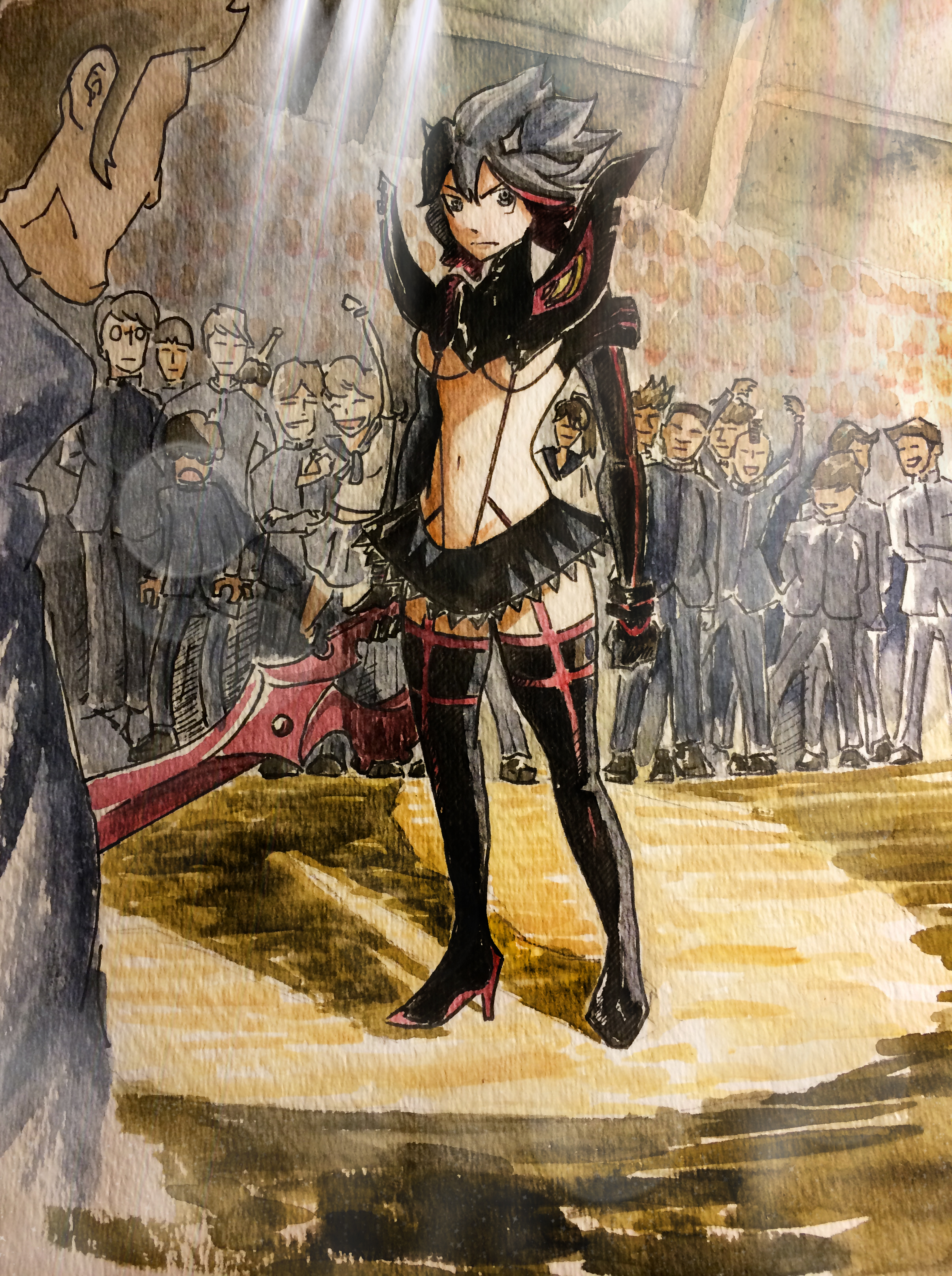 Kill la Kill - Watercolor by ma6