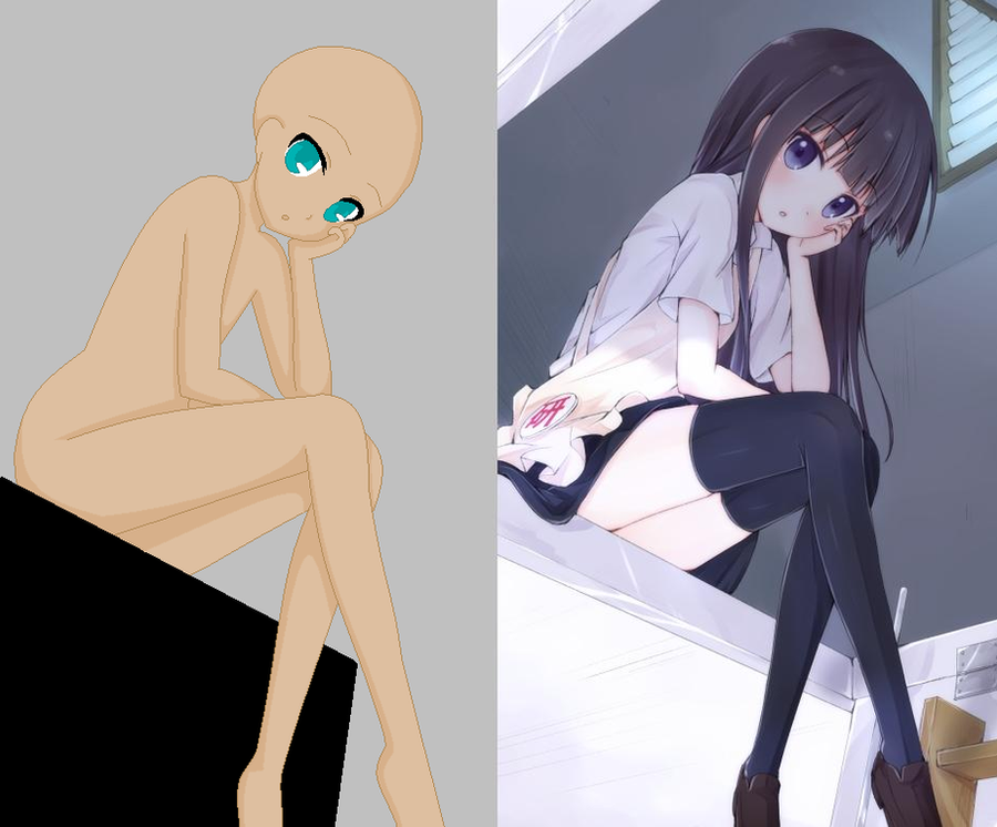 Anime Sitting On Chair 35 deviations