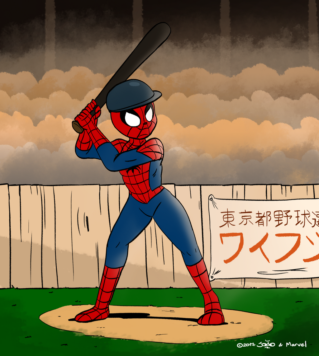 Spider man in tokyo baseball mashup challenge by for Craft fairs near me november 2017