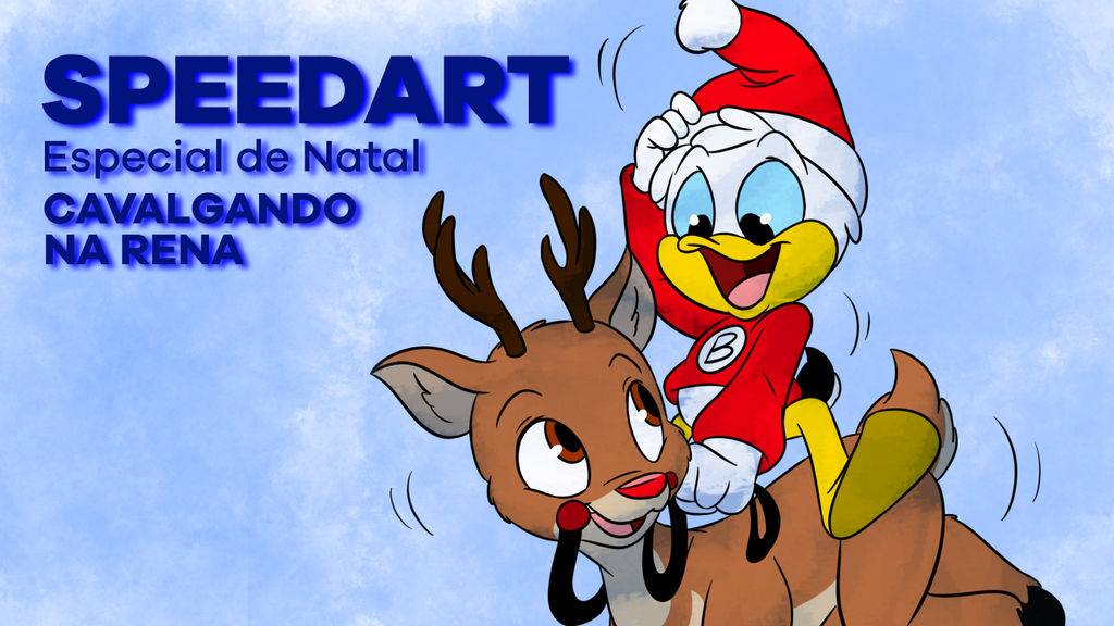 Rudolph Christmas Special.Speedart Christmas Special Riding On Rudolph By