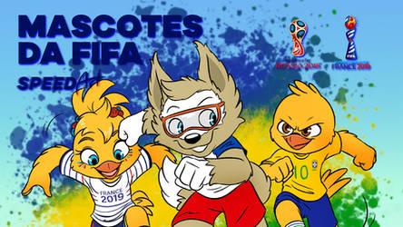 FIFA Mascots (and Canarinho) - Speed Art by joaoppereiraus