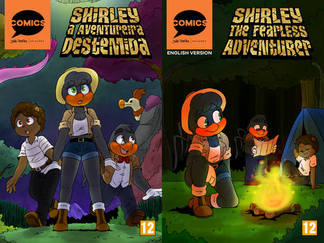 Shirley the Fearless Adventurer - Comic Covers