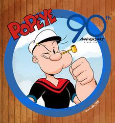 Popeye 90th Anniversary by joaoppereiraus