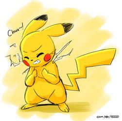 Lazy Pikachu Sketch by joaoppereiraus