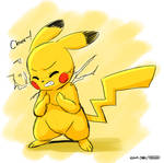 Lazy Pikachu Sketch