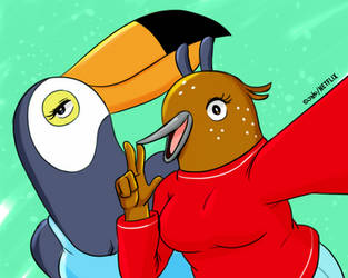 Tuca and Bertie by joaoppereiraus