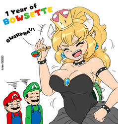 1 Year of Bowsette