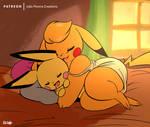 Kanna and Leroy Sleeping