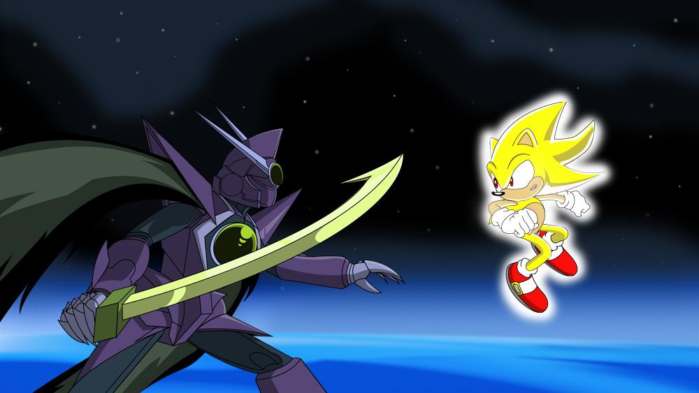 Dark Oak Vs Super Sonic by TheWax on DeviantArt