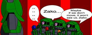 Zaku vs Zako