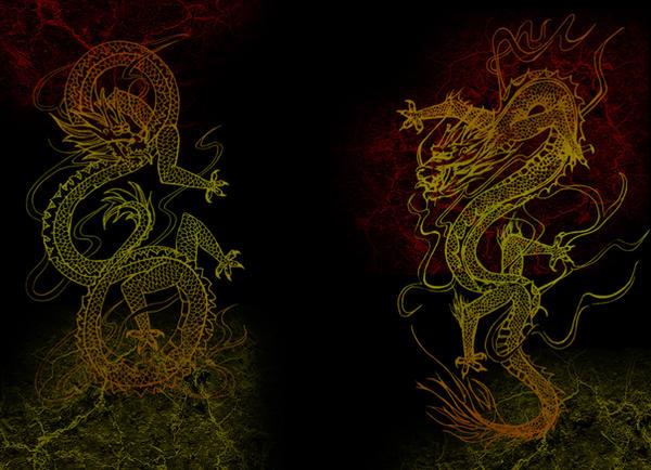 Wallpaper Chinese Dragon Rouge By Einonne On Deviantart