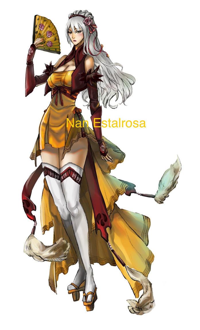 Girl in yellow dress  by Tasjuri