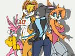 The Bunny Avengers - Bunnie, Judy, babs and Lola