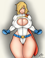 Powergirl redraw by Dinguis