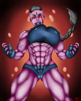 Lin Mallick OC Redisigned Rage form by Dinguis