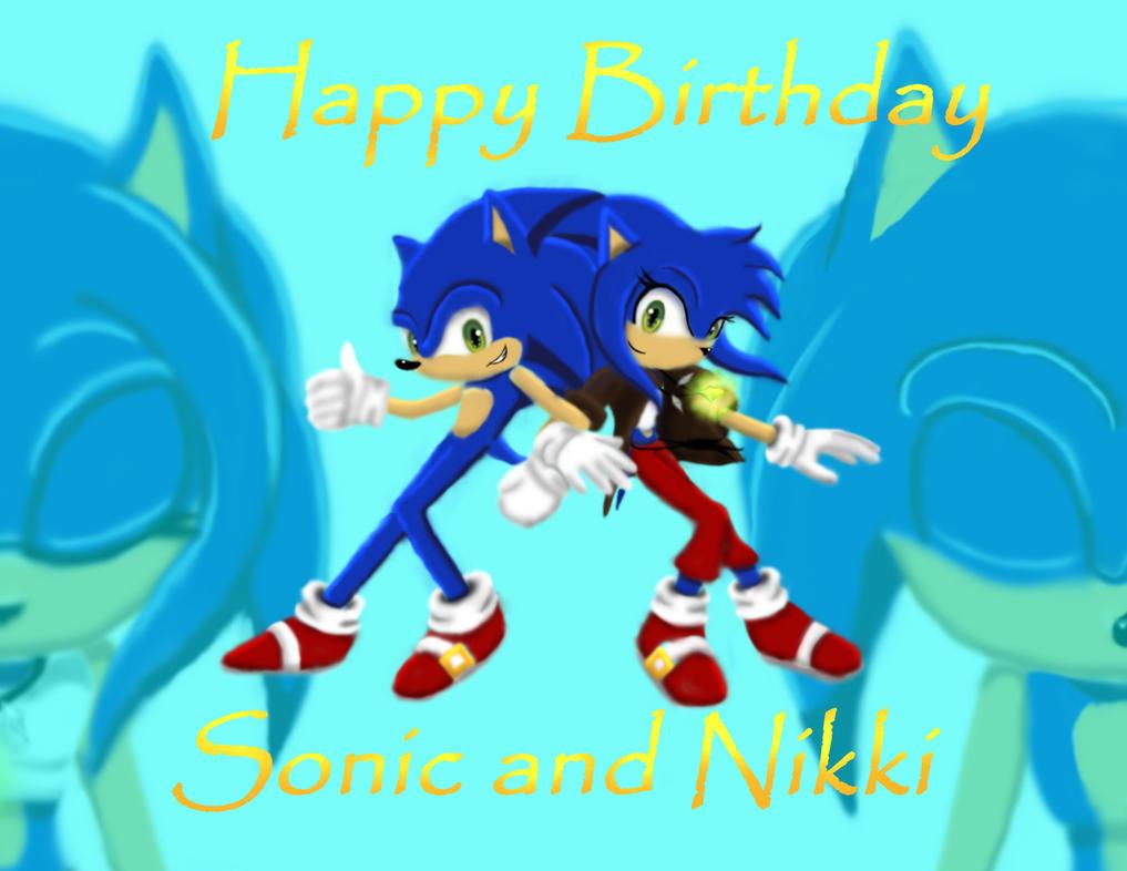 Happy Birthday Sonic and Nikki by xXStoryWolfXx
