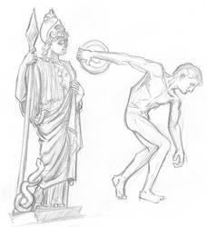 Athena sketch by Niklix-Broomsbane