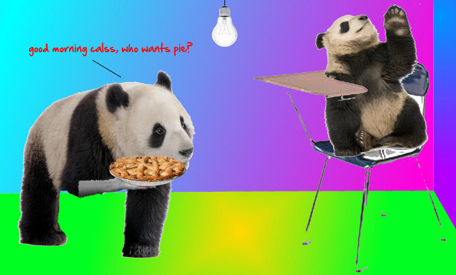 School Pandas by wafflesandtacos1gir