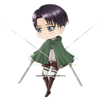 SnK Chibi :: Levi by queen-of-rainbows