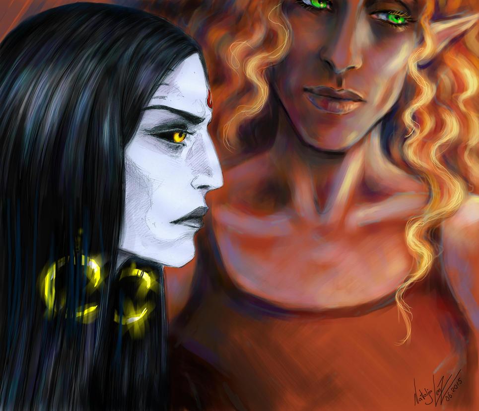 Kamoril and Myar by NAtlantida