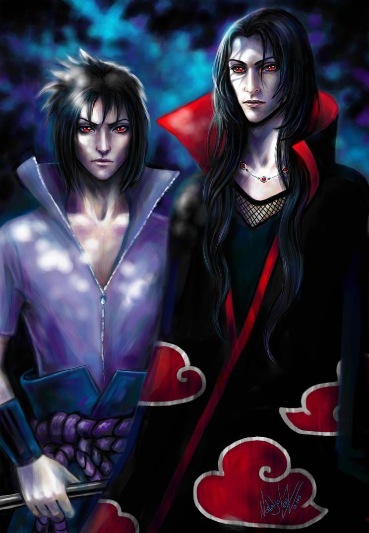 brothers Uchiha Sasuke and Itachi by NAtlantida