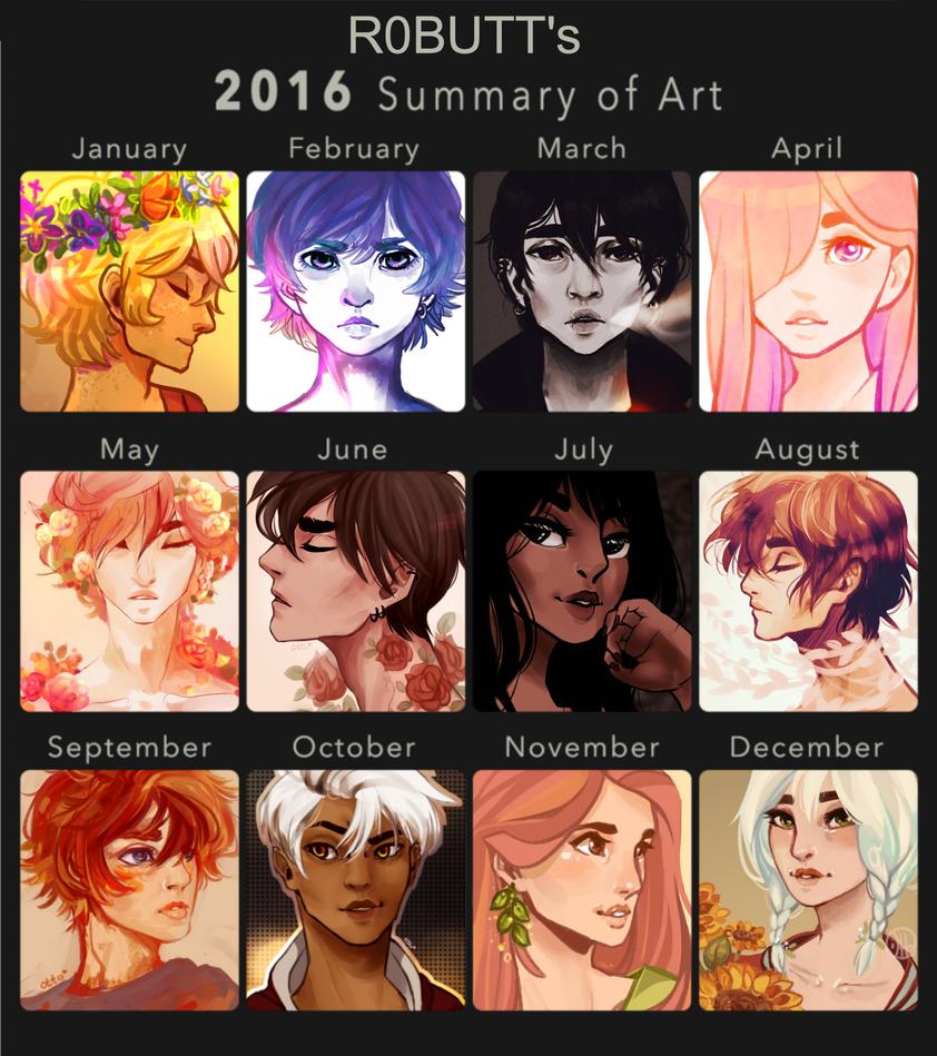 Art Summary 2016 by R0BUTT