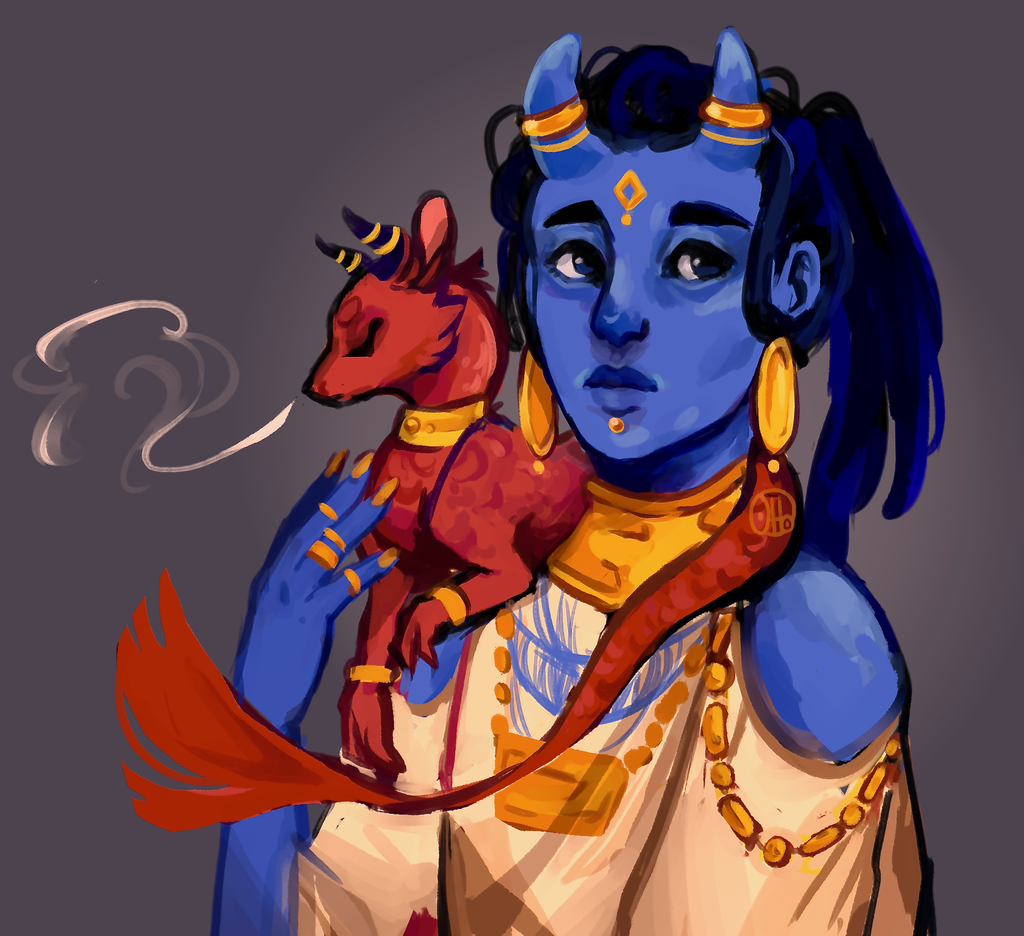 Blue, Red and Gold by R0BUTT