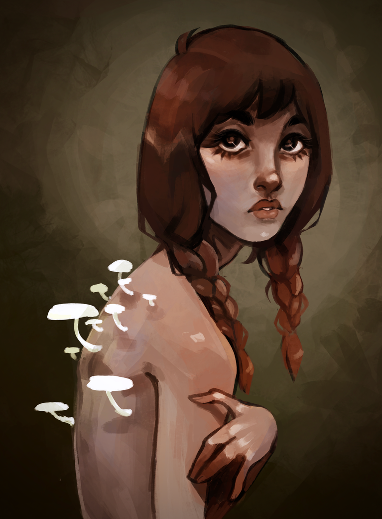 Mushroom Girl { SPEEDPAINT } by R0BUTT