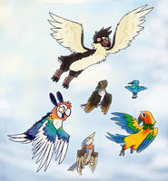Bird Flock by BasicButters