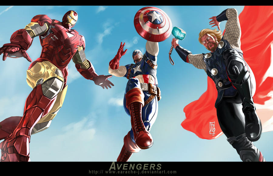 THE AVENGERS by earache-J