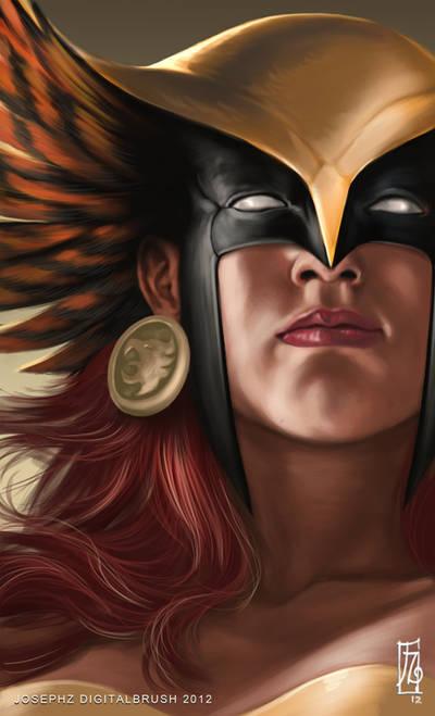 Hawkgirl Headshot by earache-J