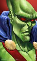 Martian Manhunter Headshot by earache-J