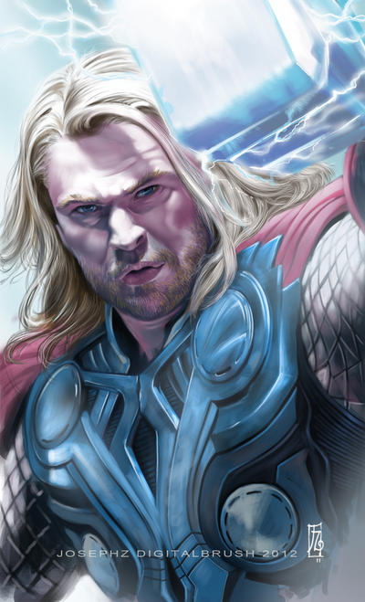 Chris Hemswoth as Thor by earache-J