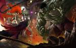 Ichigo vs hulk by earache-J