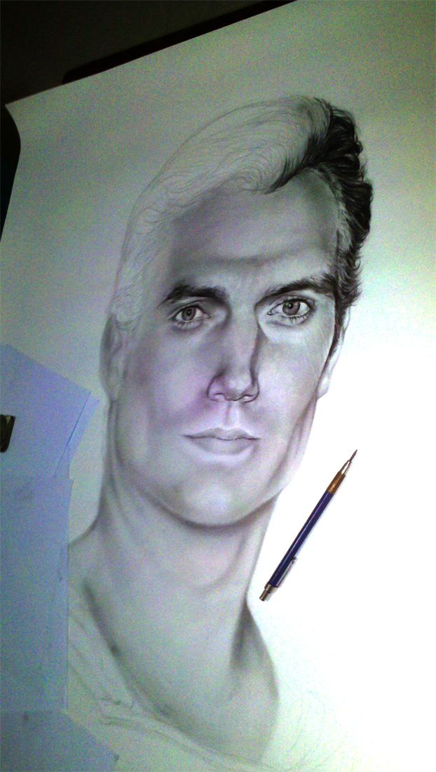 WIP Man of Steel Henry Cavill by earache-J