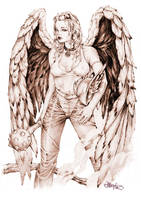Hawk Girl by earache-J