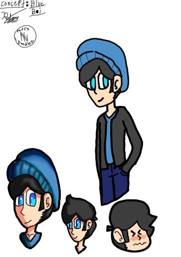 blue boi by RetroDoodleZ