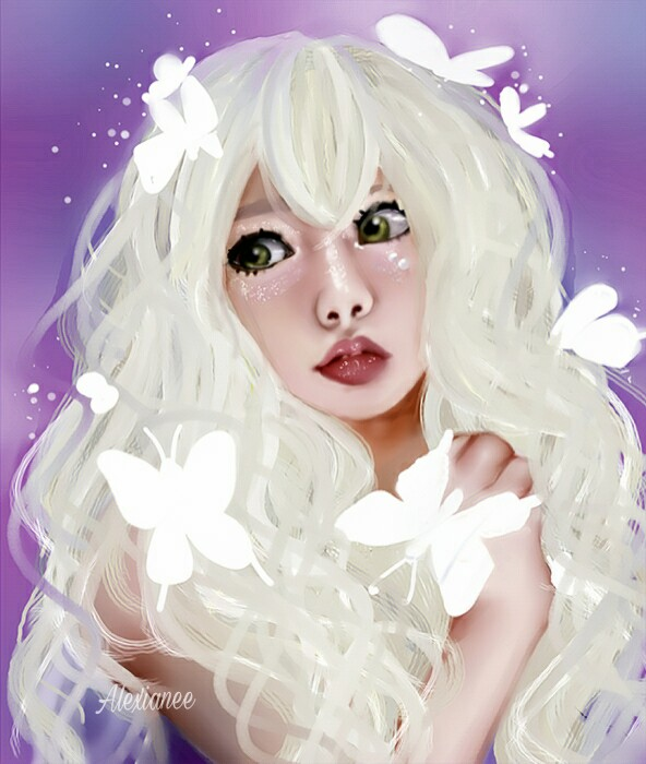 _WHITE BUTTERFLY_ by Alexianeee