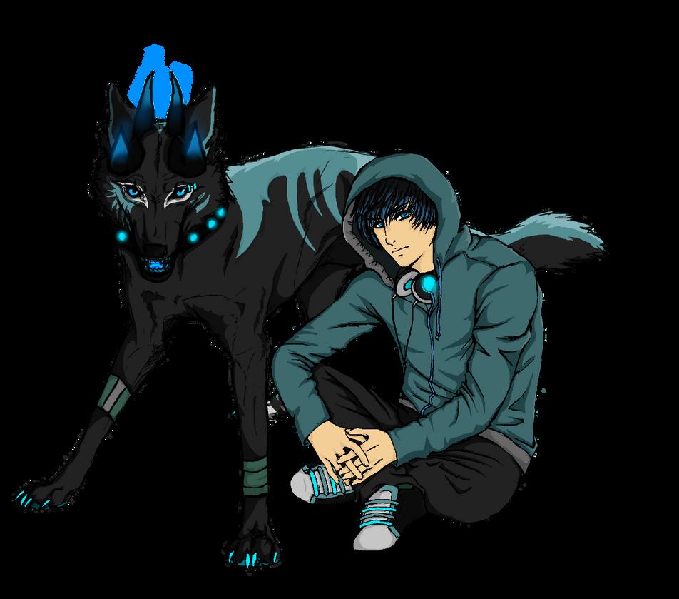 Hanzo ~ Kreptis Wolf and Human Version by Blue-Rakuen