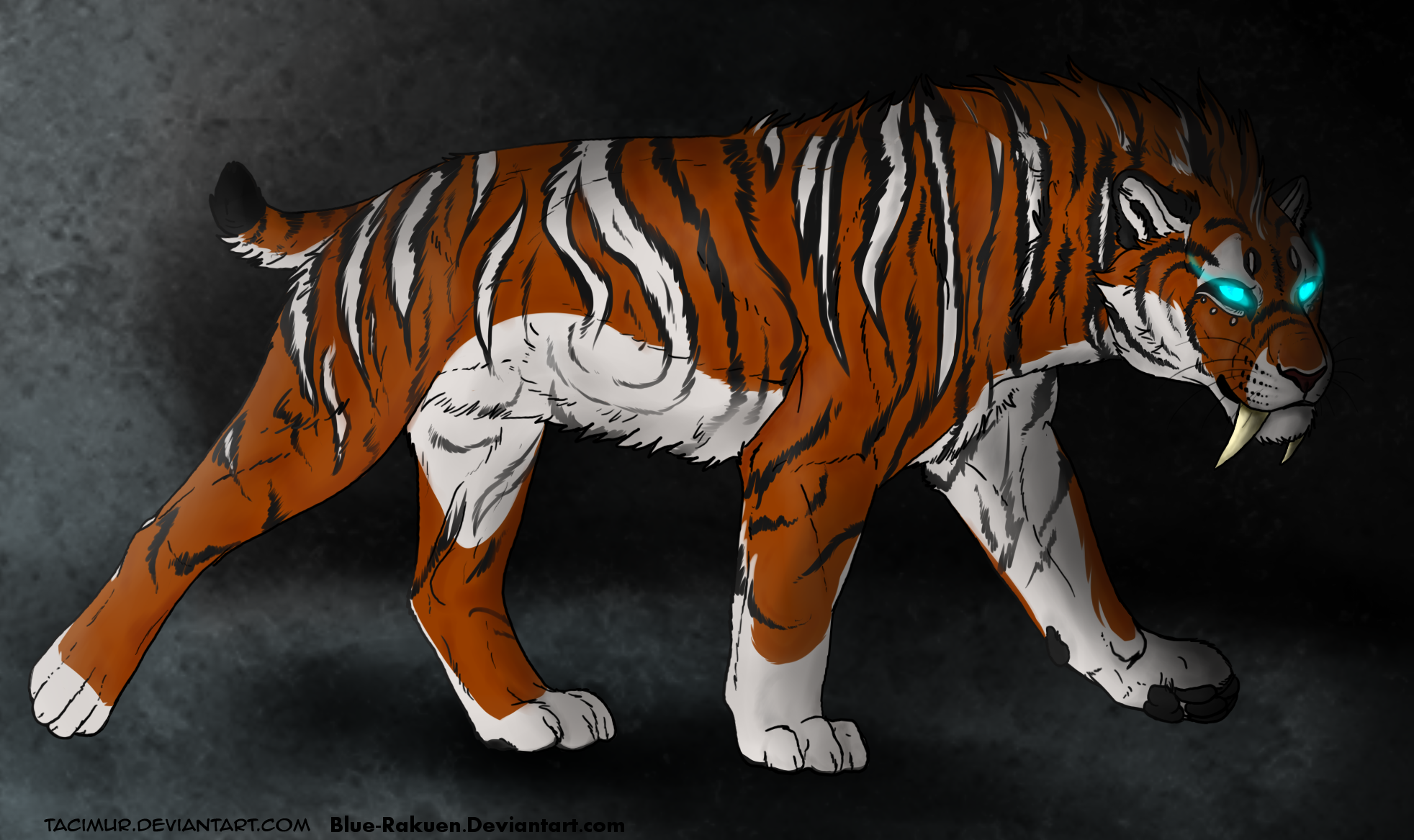 Saber Tooth Tiger Painting