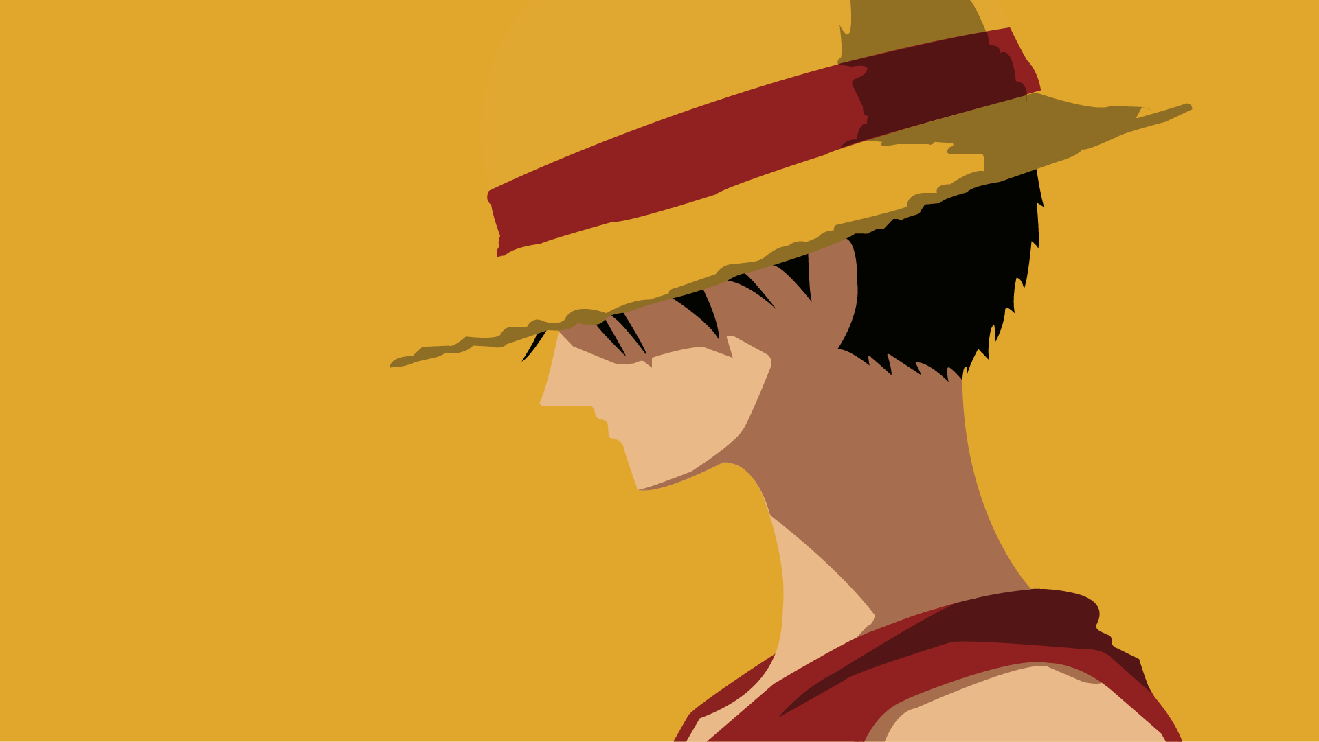Luffy one piece by uzumakiash on deviantart for Minimalist art pieces