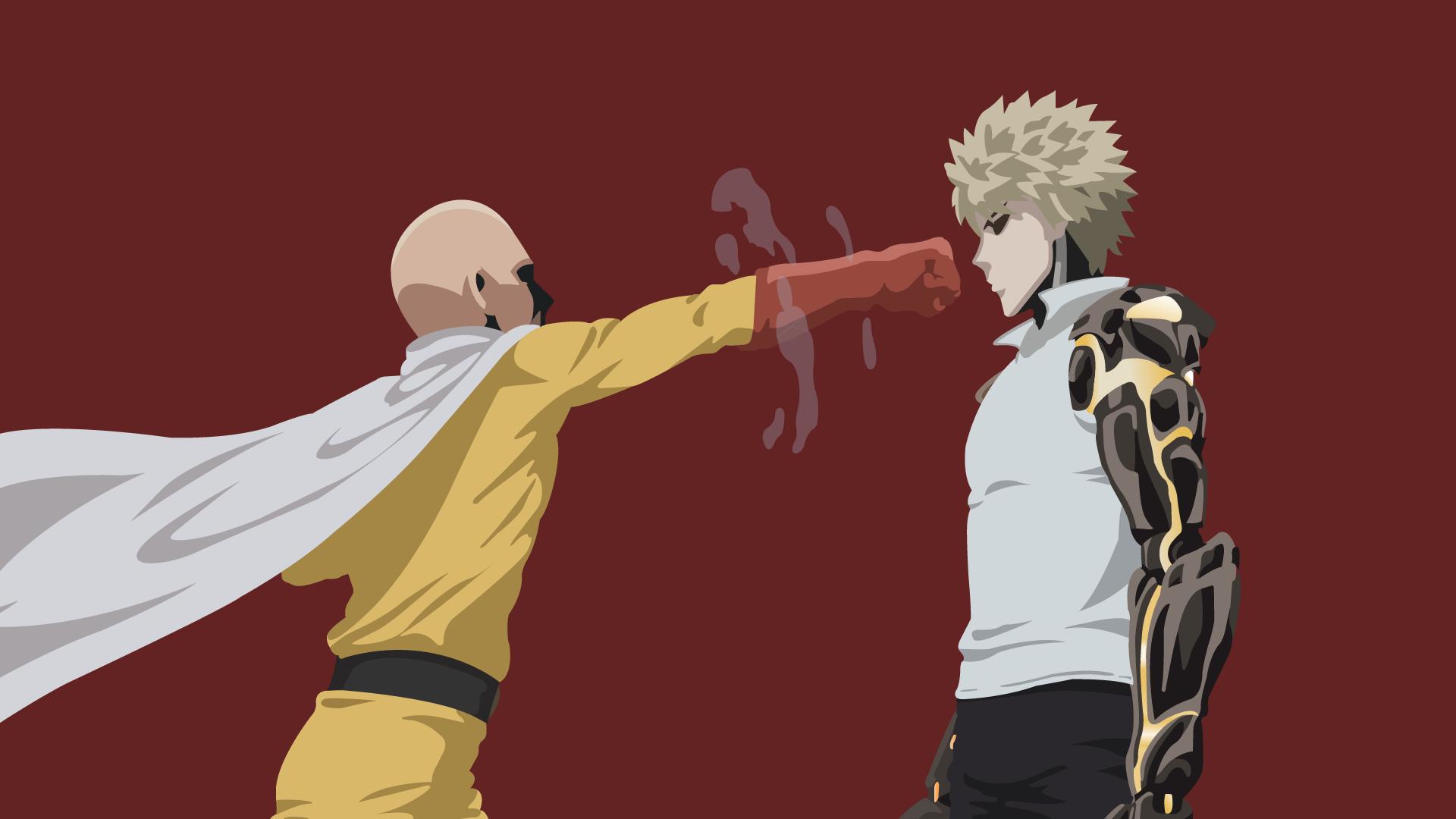 Saitama And Genos One Punch Man By Uzumakiash On Deviantart