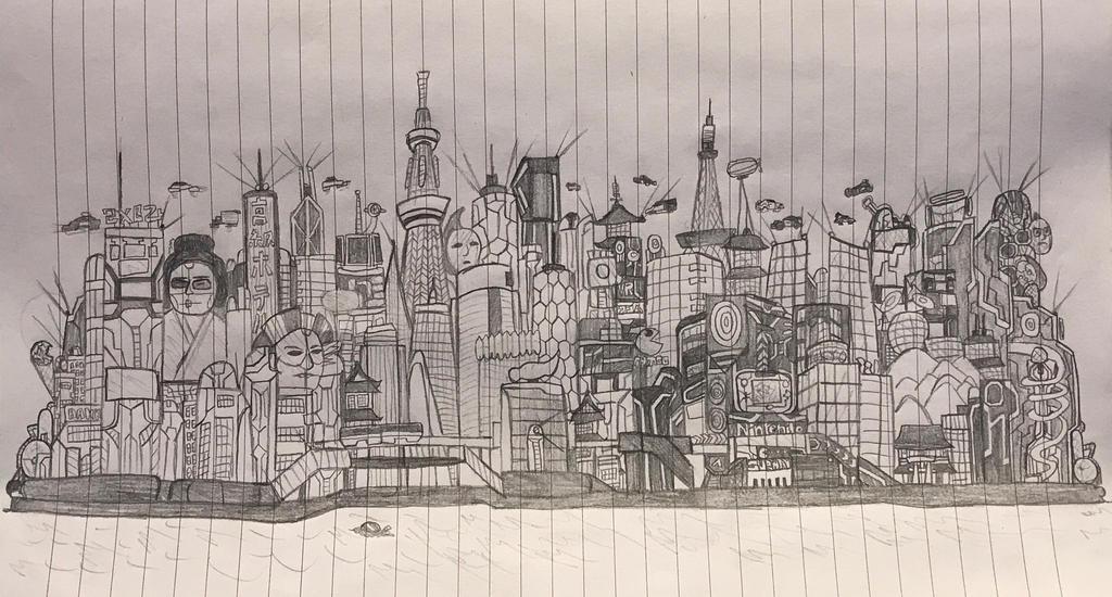 Cyberpunk City by kakeru30