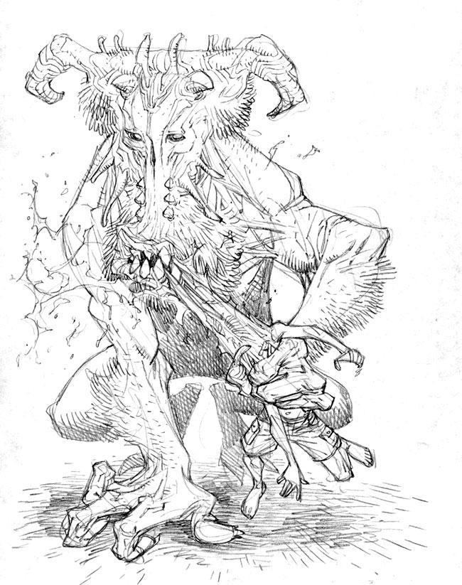 Monster Sketch Templates