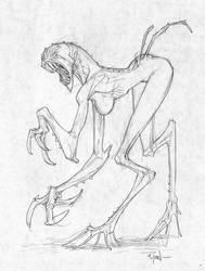 Freaky monster chick by RyanOttley