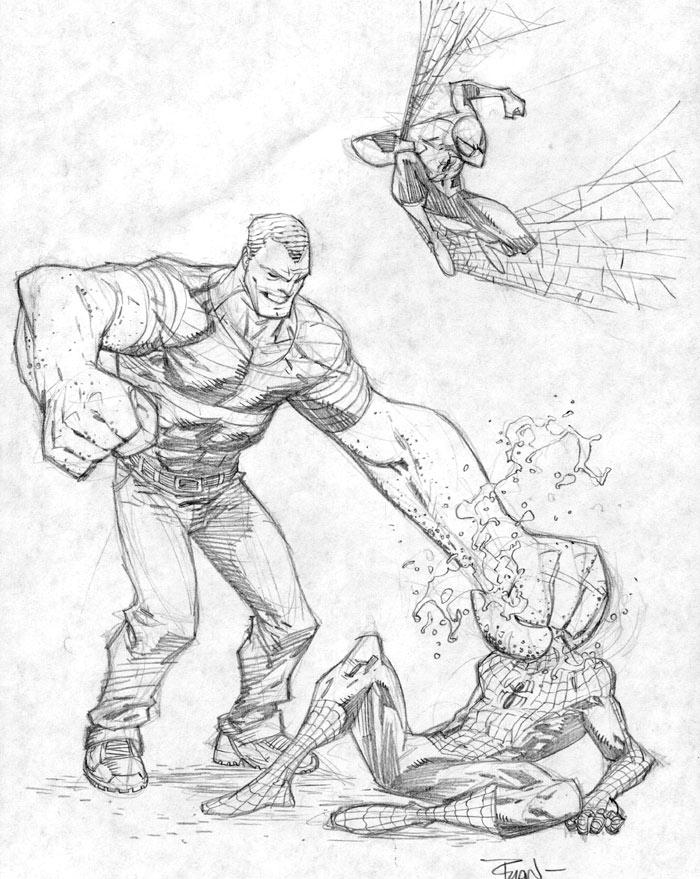 Spiderman VS Sandman by RyanOttley on DeviantArt